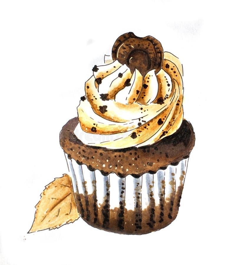 Download Cupcake Hand Sketch On White Stock Illustration - Illustration of sweet, cupcake: 118537524