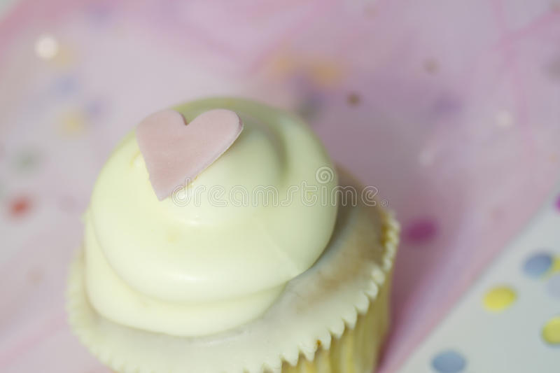 Cupcake with heart abstract love valentines sign symbol stock photos