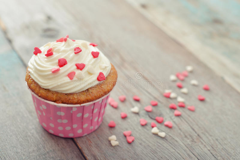 Cupcake With Icing Stock Photo