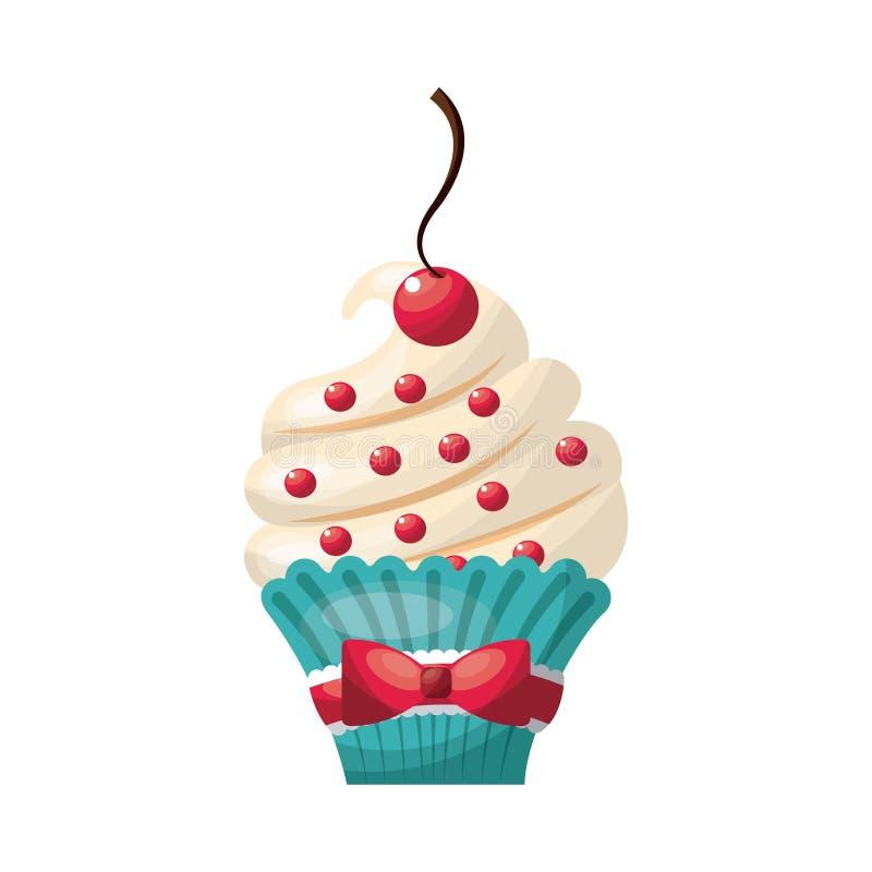 Cupcake icon. Bakery design. Vector graphic vector illustration