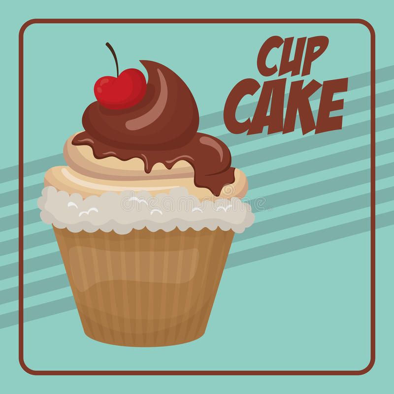 Cupcake icon. Dessert and sweet design. Vector graphic. Dessert and sweet concept represented by cupcake icon. Property of colorfull and frame illustration stock illustration