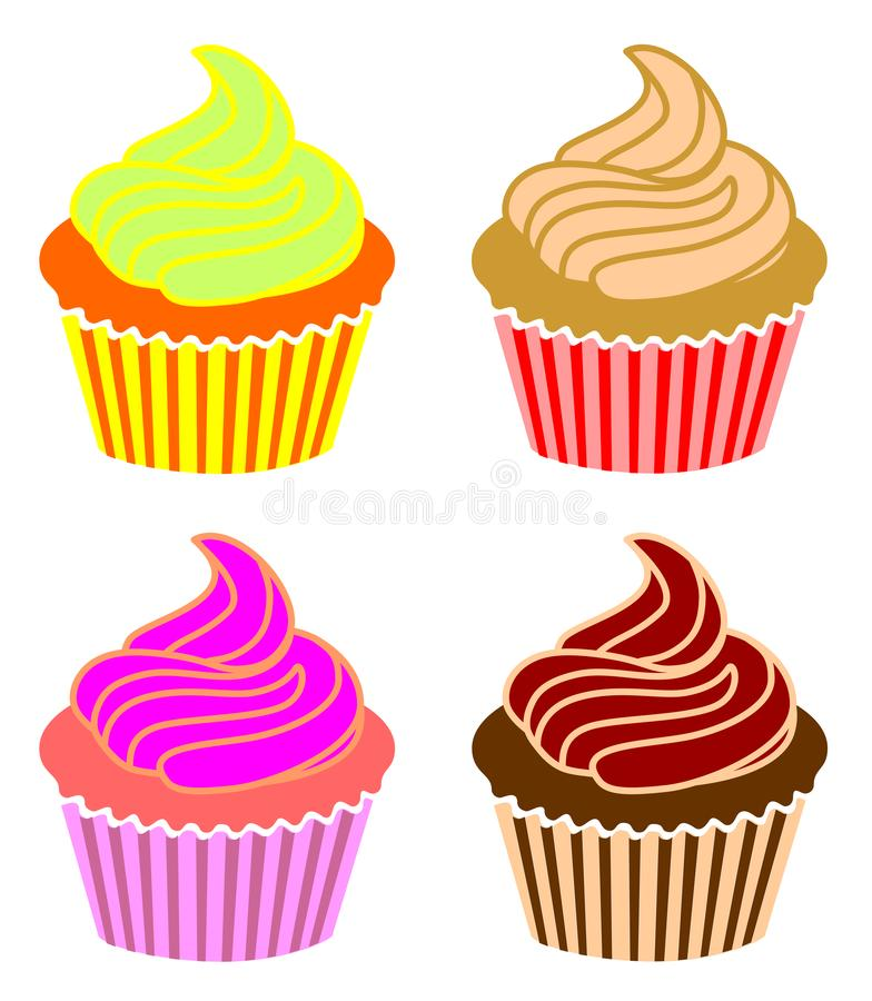 Cupcake icon et simple sign and modern symbol vector illustration