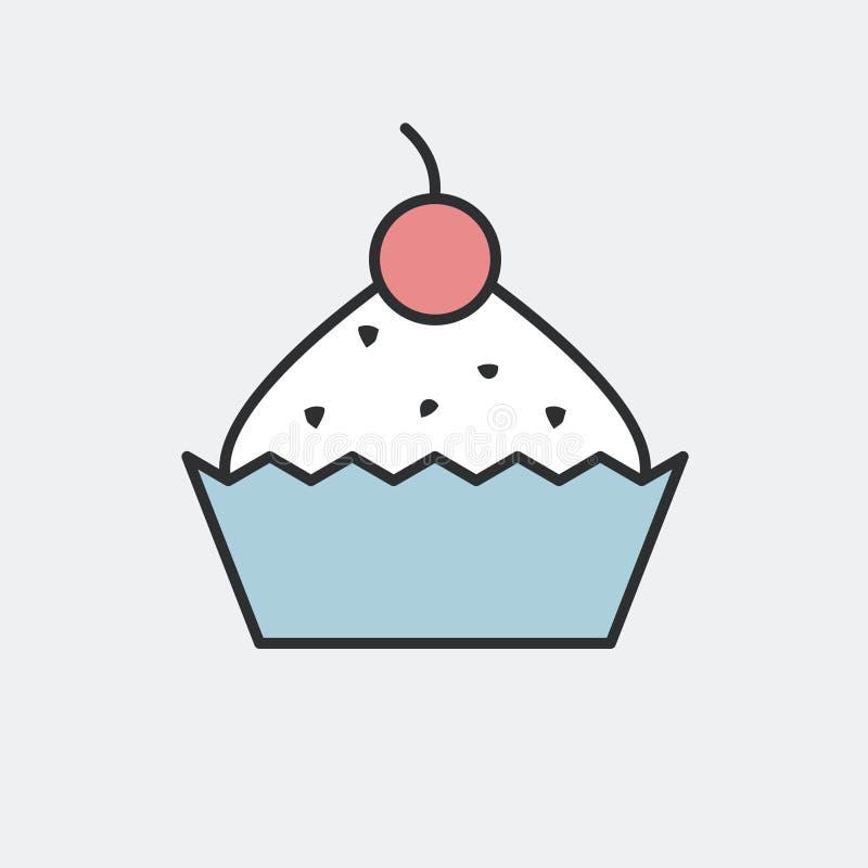Cupcake icon vector illustration