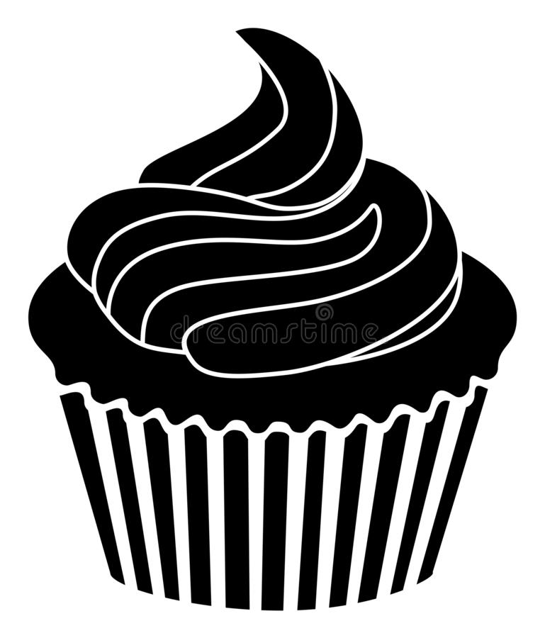 Cupcake icon simple sign and modern symbol stock illustration