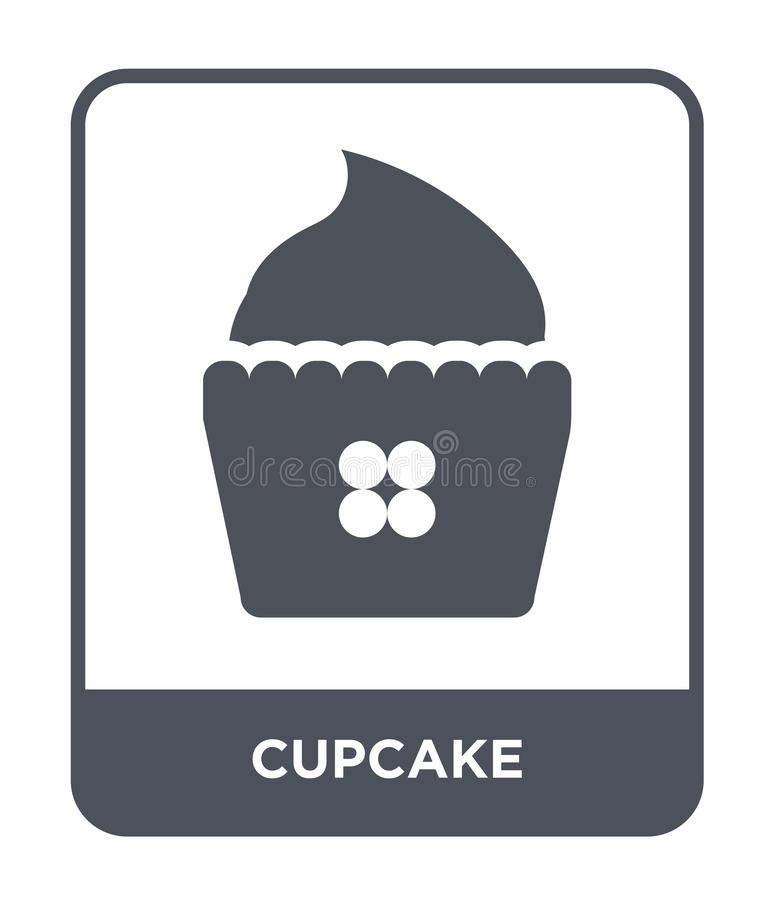 cupcake icon in trendy design style. cupcake icon isolated on white background. cupcake vector icon simple and modern flat symbol vector illustration