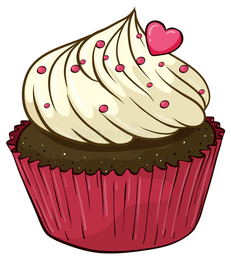 Cupcake. Illustration of an isolated cupcake royalty free illustration