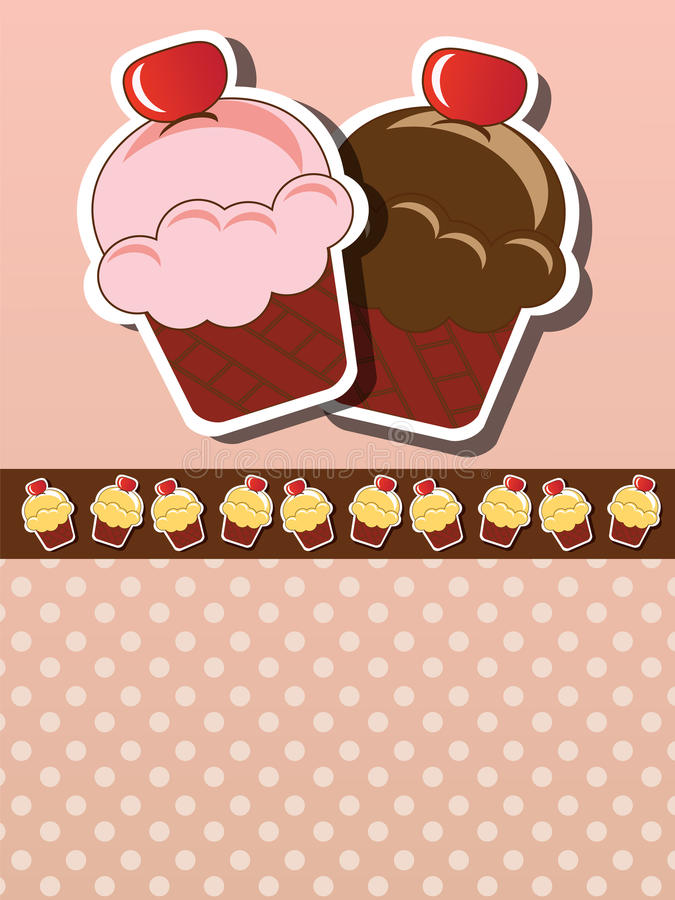 Download Cupcake invitation stock vector. Image of creative, pastry - 26502718