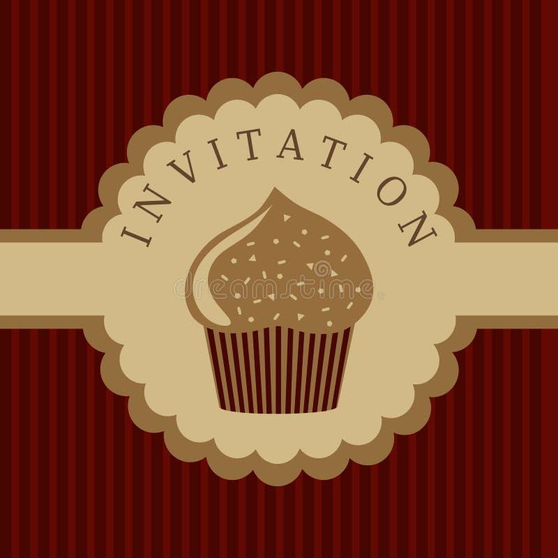Cupcake invitation background vector illustration