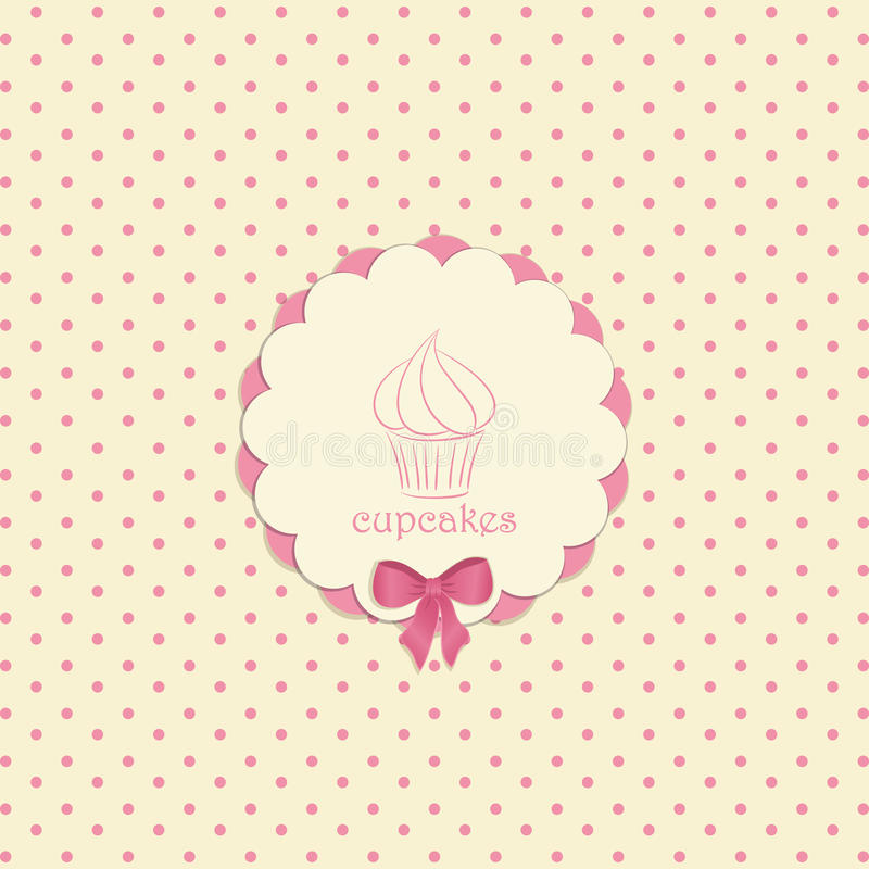 Cupcake label vector illustration