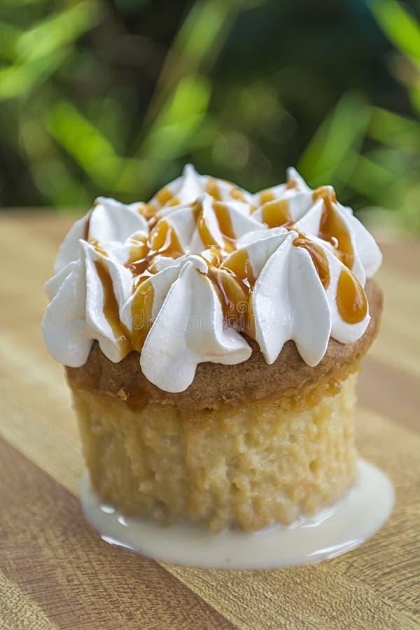 Cupcake 3 Leches stock afbeeldingen