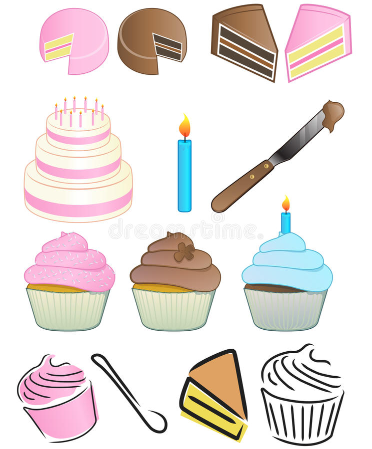 Download Cupcake Logo Set Royalty Free Stock Photo - Image: 22025825