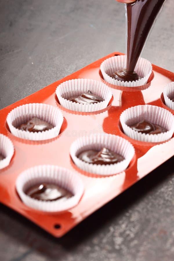 Cupcake Making Royalty Free Stock Image
