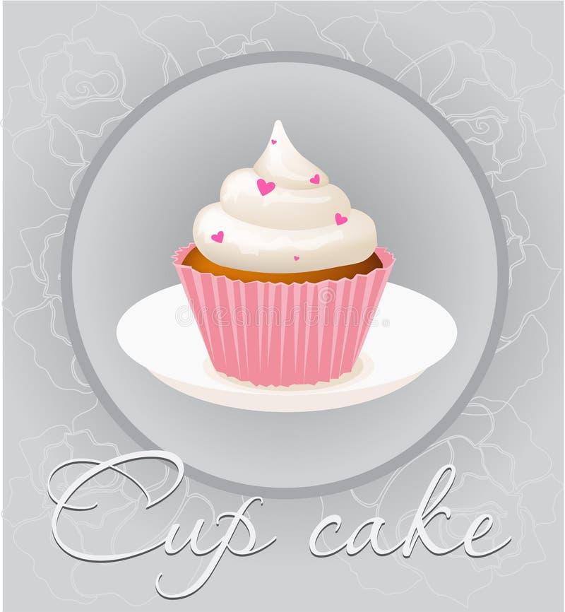 Cupcake mesh vector illustration stock illustration