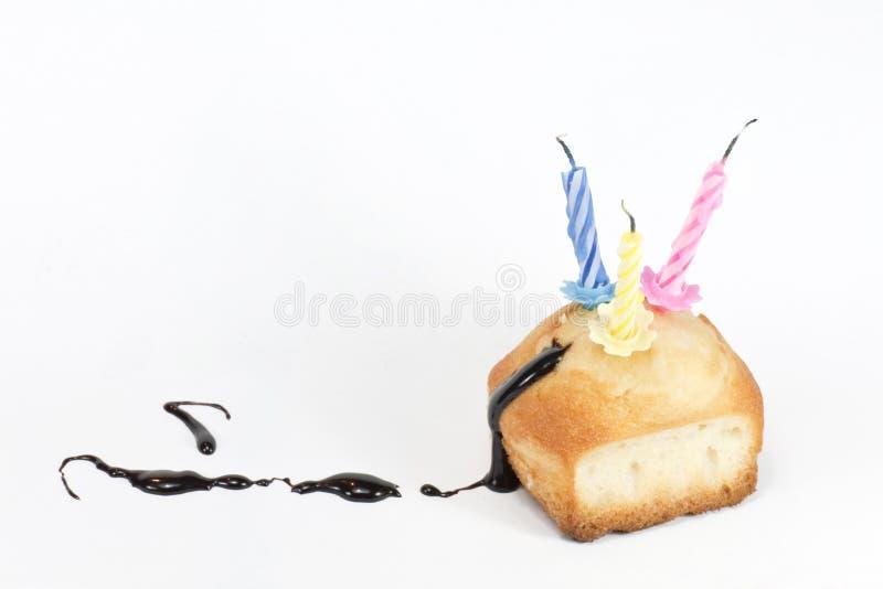 Cupcake met chocolade royalty-vrije stock fotografie