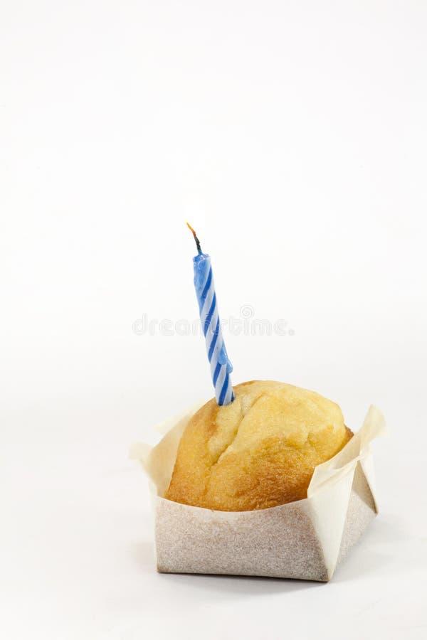 Cupcake met kaars royalty-vrije stock foto's