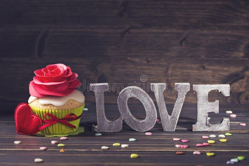 Cupcake met nam toe royalty-vrije stock fotografie
