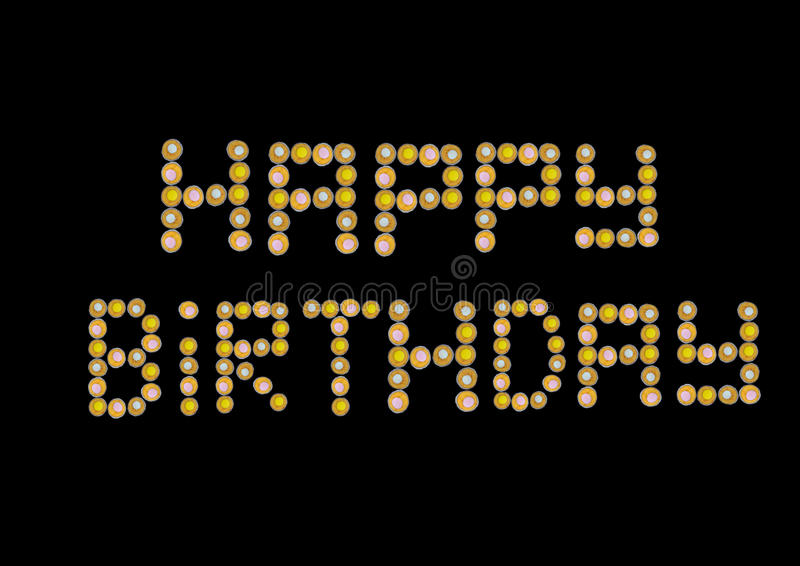 Download Cupcake Muffin Happy Birthday Stock Illustration - Image: 12286940