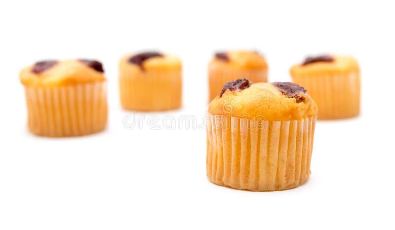 Cupcake op een witte achtergrond stock foto