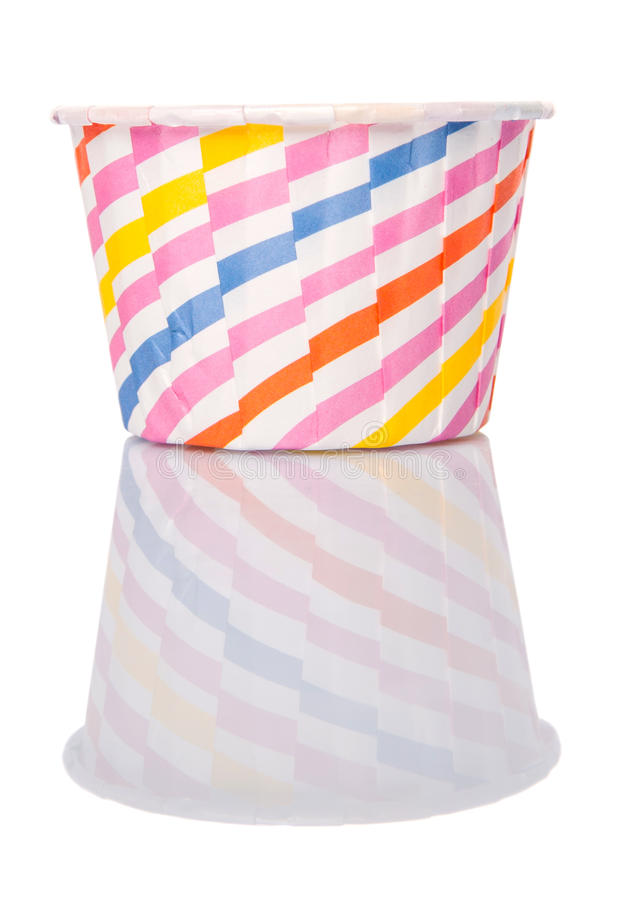 Cupcake Paper Baking Cups III. Cupcake paper baking cups over white background royalty free stock photo