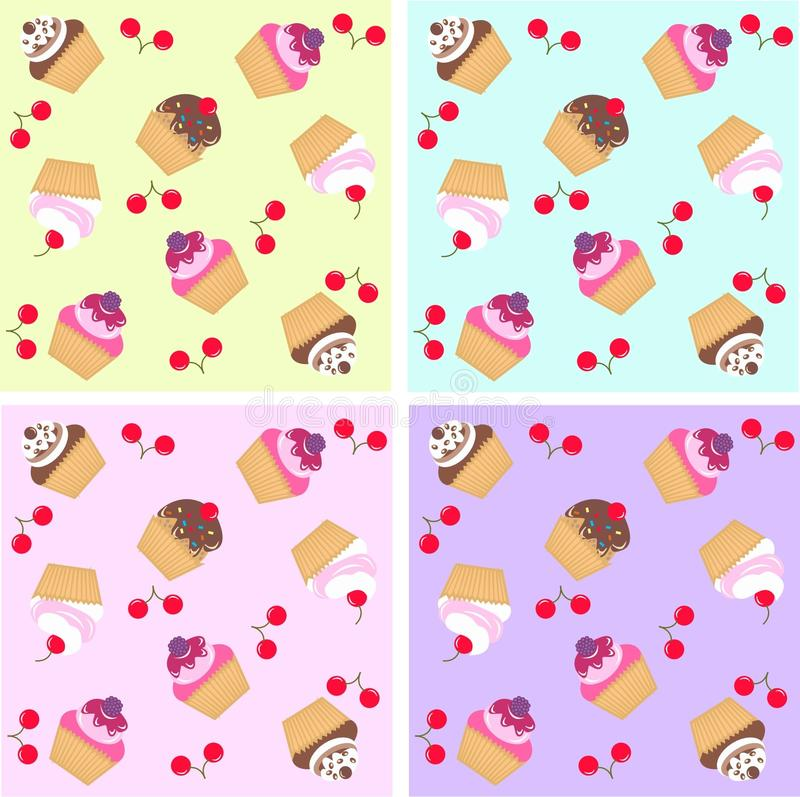 Download Cupcake pattern seamless stock vector. Illustration of biscuit - 14769294