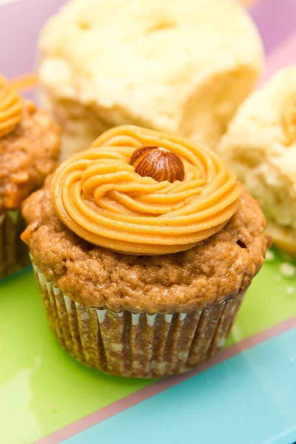 Cupcake with peanut stock photo