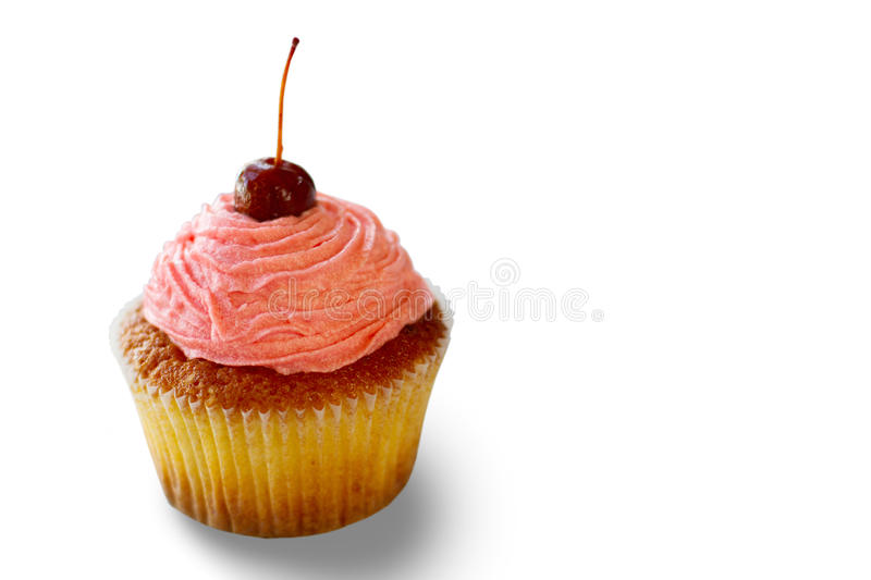 Cupcake with pink cream. stock images