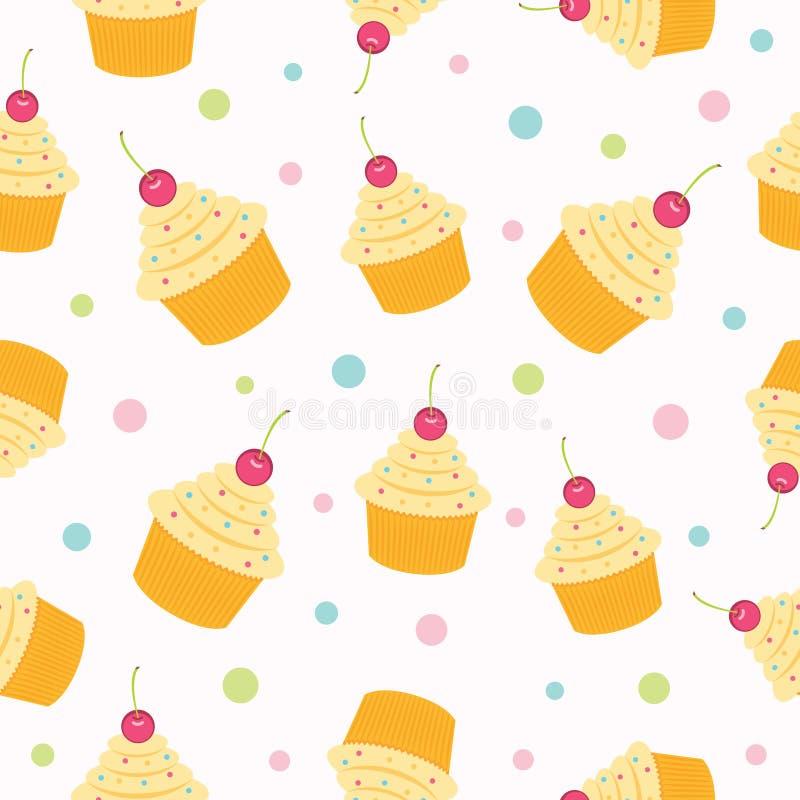 Cupcake Seamless Pattern. vector illustration