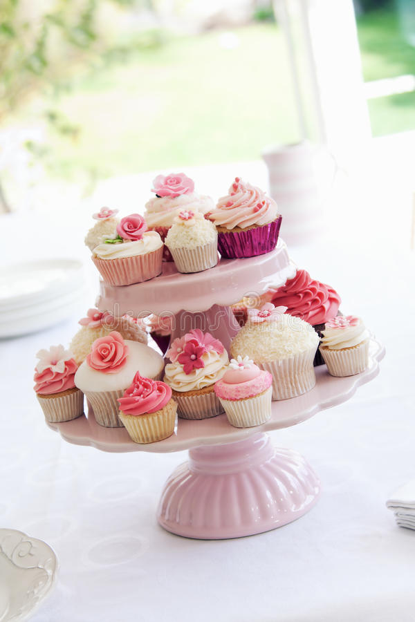 Cupcake stand royalty free stock photography