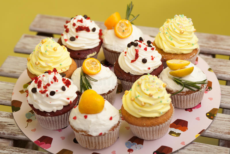 Cupcake_stock_4 στοκ εικόνες