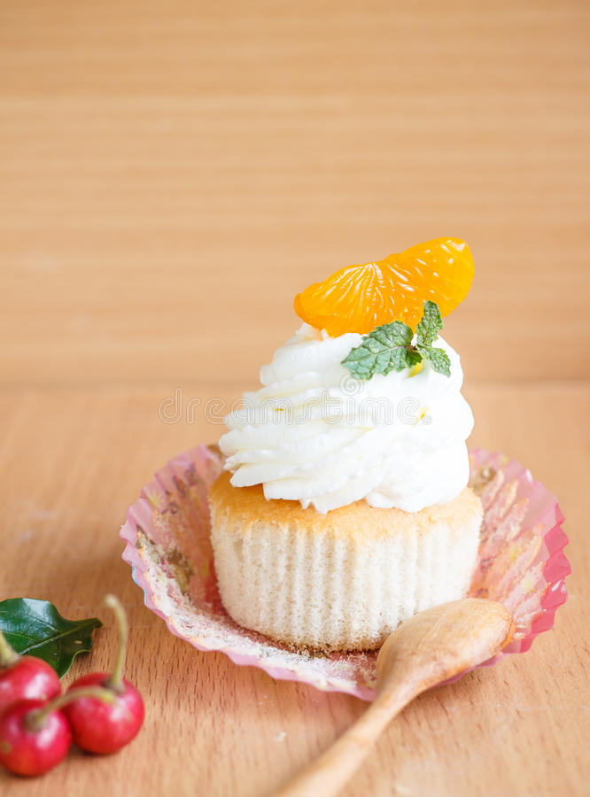 Cupcake. Sweet cupcake with butter cream stock photography