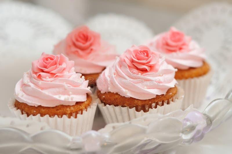 Cupcake. Sweet cupcake pink holidays white royalty free stock photos