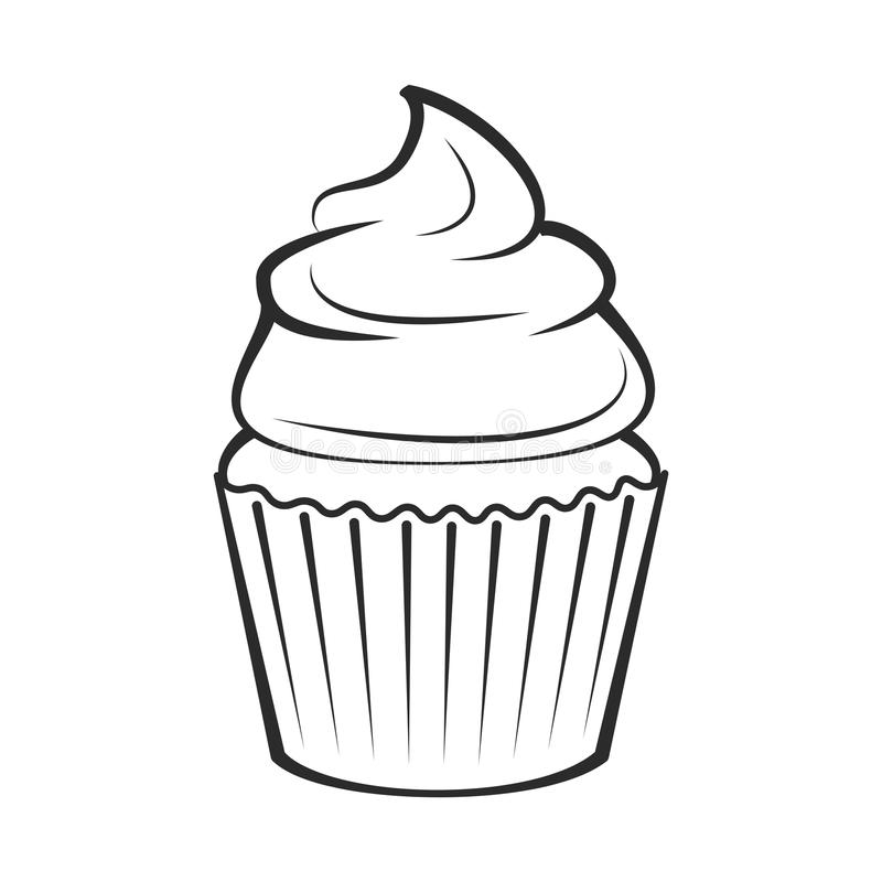 cupcake vector illustration isolated on white stock vector rh dreamstime com cupcake vector free download cupcake vector free download