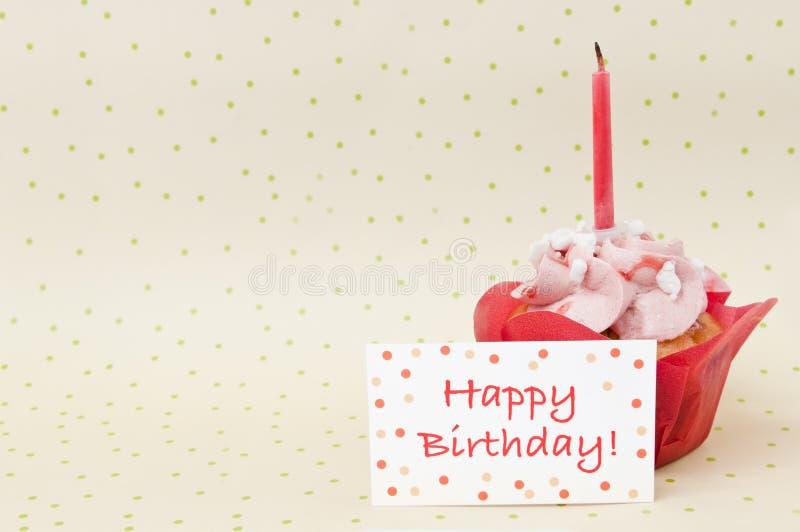 Cupcake voor verjaardag stock fotografie