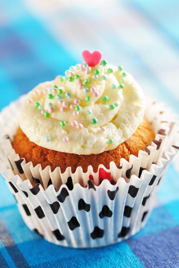 Download Cupcake with whipped cream stock image. Image of homemade - 24735007
