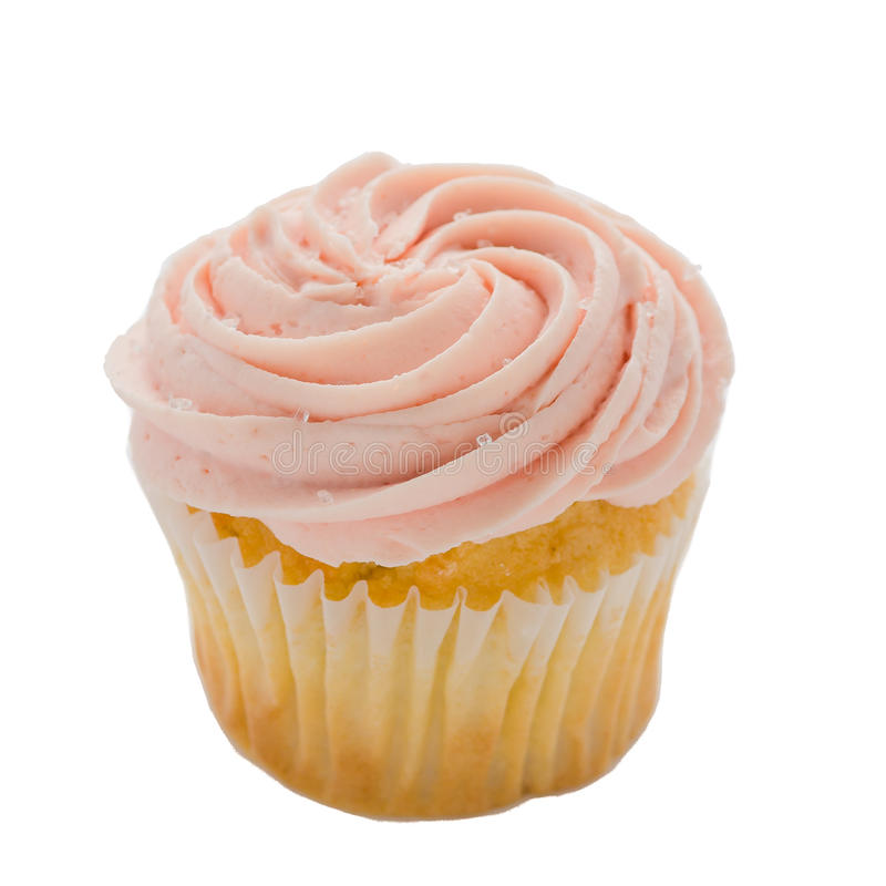 Cupcake on white background stock image
