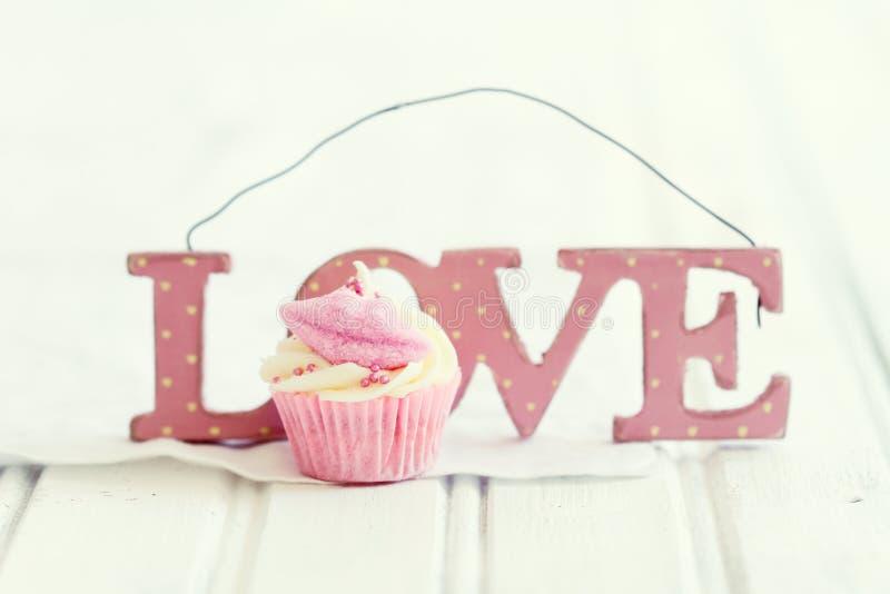 Cupcakeliefde stock afbeelding