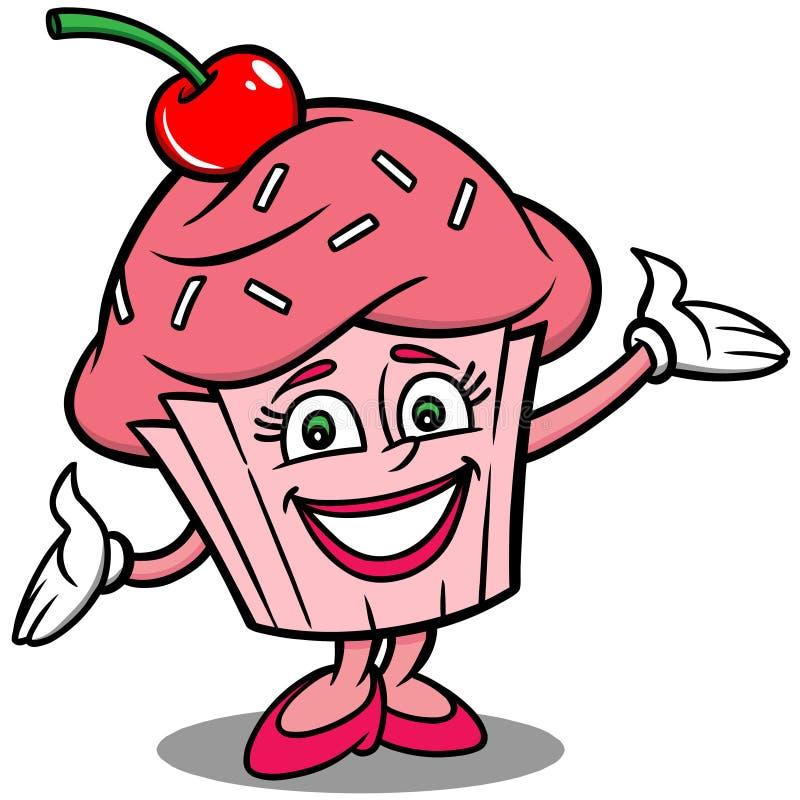 Cupcakemascotte royalty-vrije illustratie