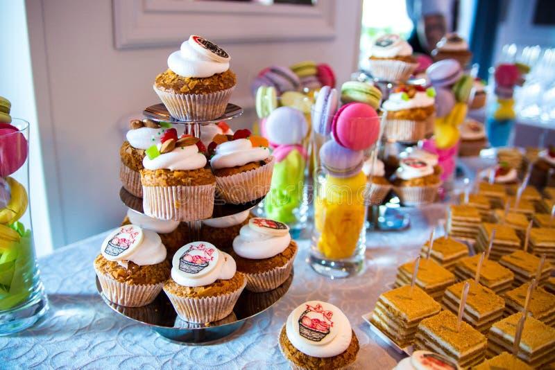 Cupcakepartij stock afbeeldingen