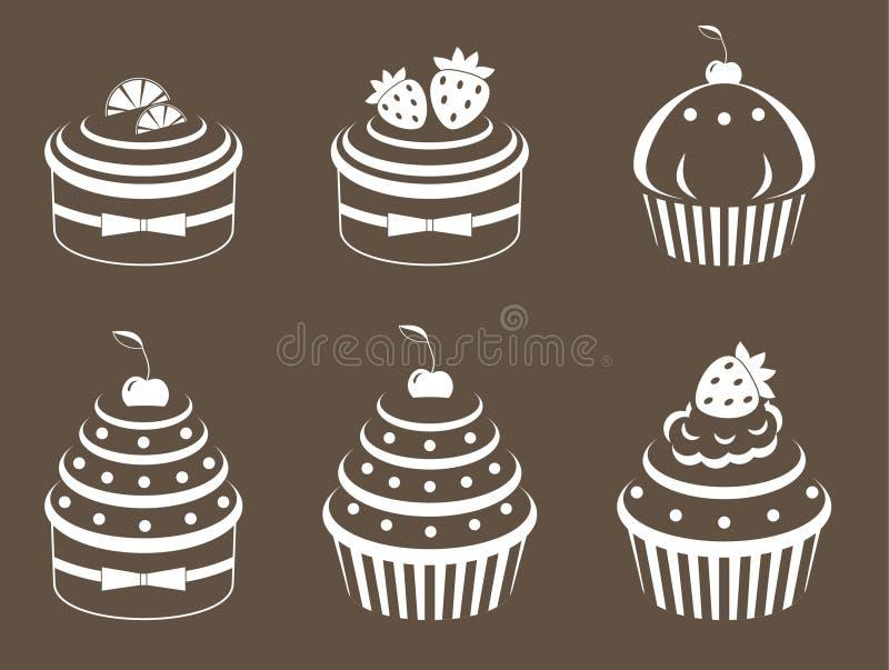 cupcakes θέστε διανυσματική απεικόνιση
