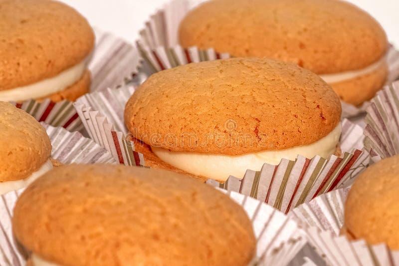 Cupcakes, κινηματογράφηση σε πρώτο πλάνο στοκ φωτογραφία
