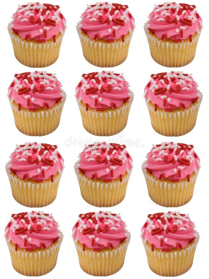 Cupcakes ροζ Στοκ Εικόνες