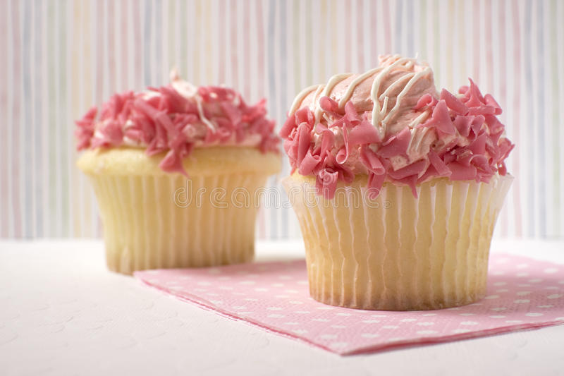 cupcakes ροζ στοκ φωτογραφία με δικαίωμα ελεύθερης χρήσης