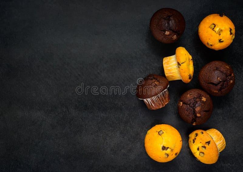 Cupcakes στο διάστημα αντιγράφων στοκ φωτογραφία