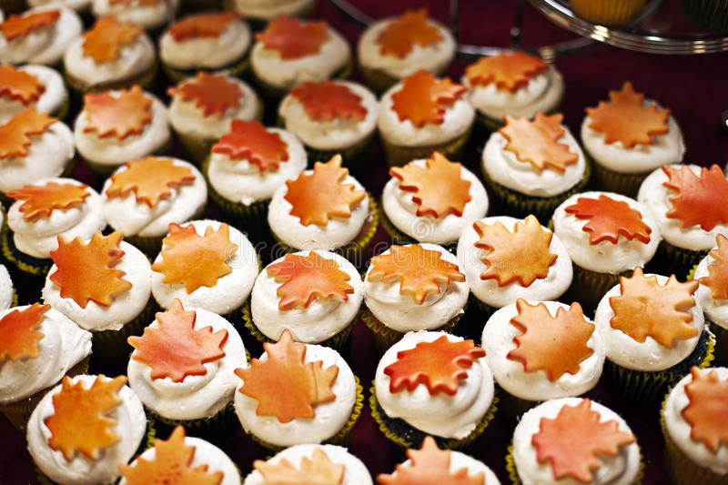 Download Cupcakes stock image. Image of leaves, autumn, food, icing - 16799895