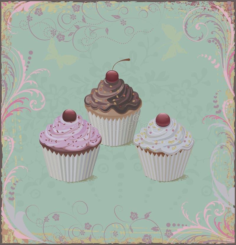 Cupcakes stock illustration