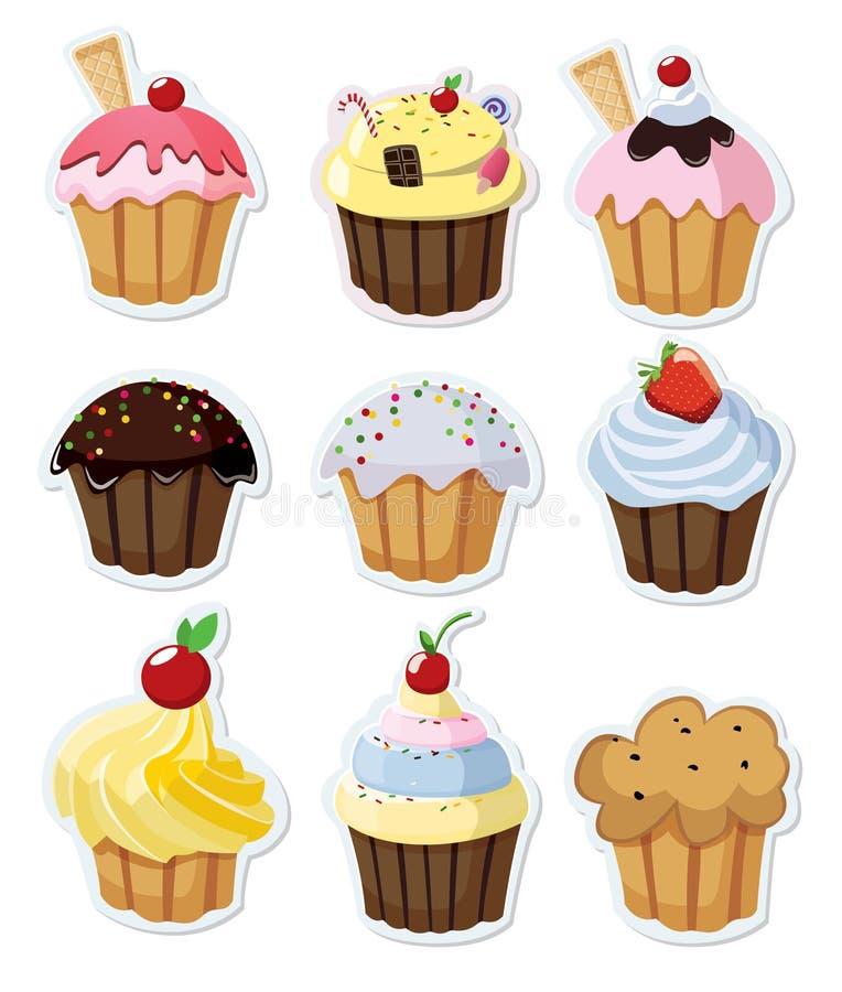 Cupcakes vector illustratie