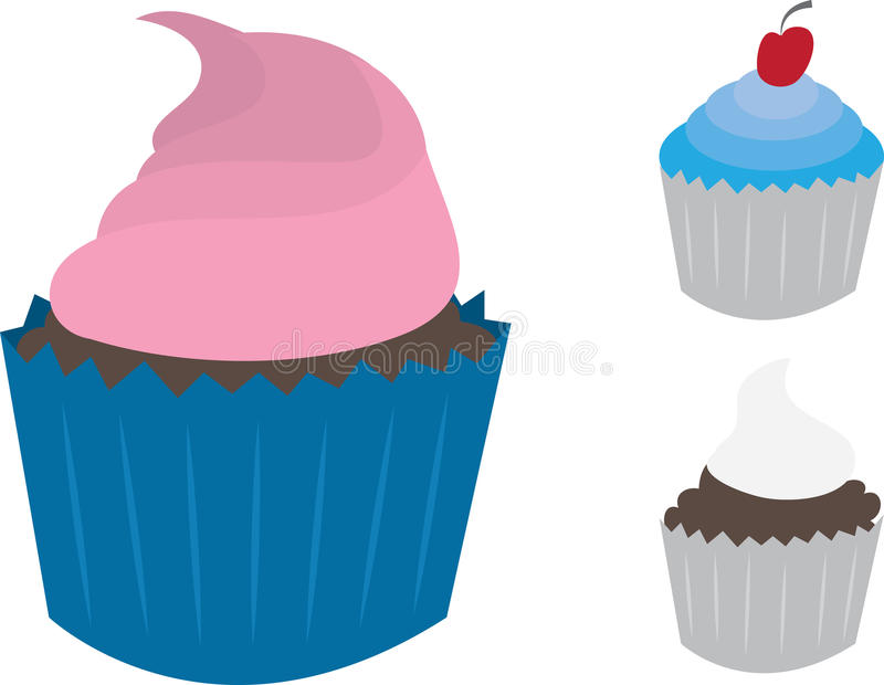 Download Cupcakes stock vector. Image of pink, party, food, love - 23469714
