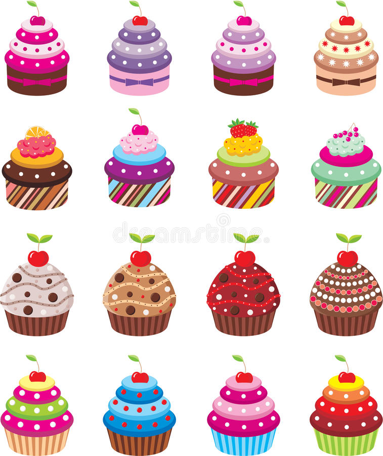 Download Cupcakes stock vector. Image of icing, holiday, lemon - 23817059
