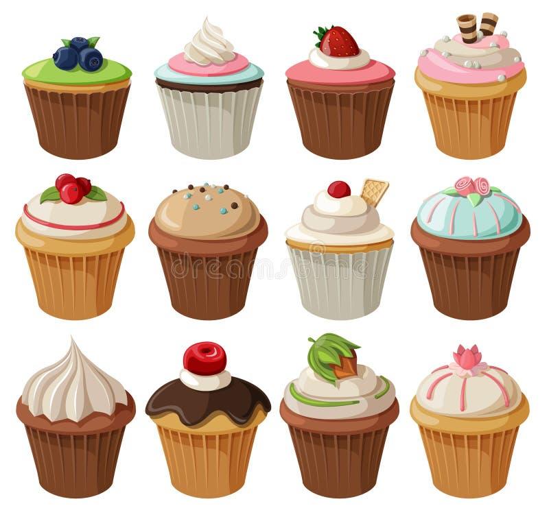 cupcakes διανυσματική απεικόνιση