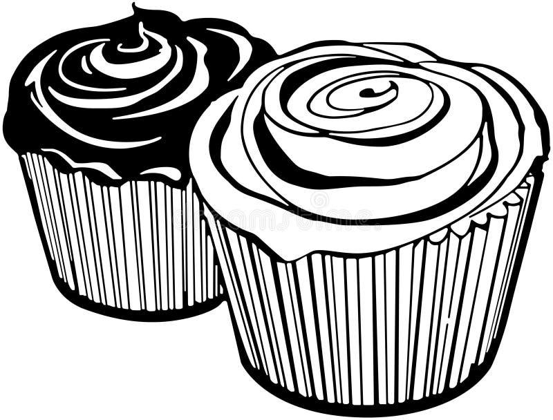 Cupcakes2 διανυσματική απεικόνιση